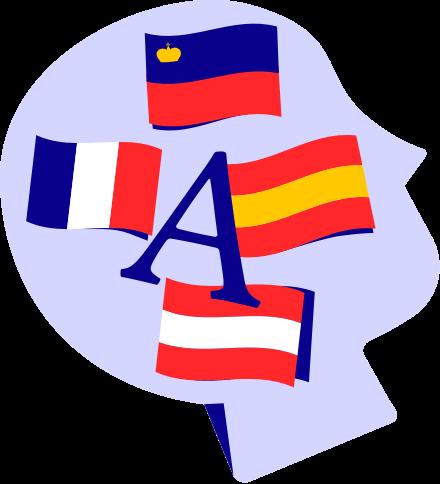 formatio Privatschule – Illustration head-flags