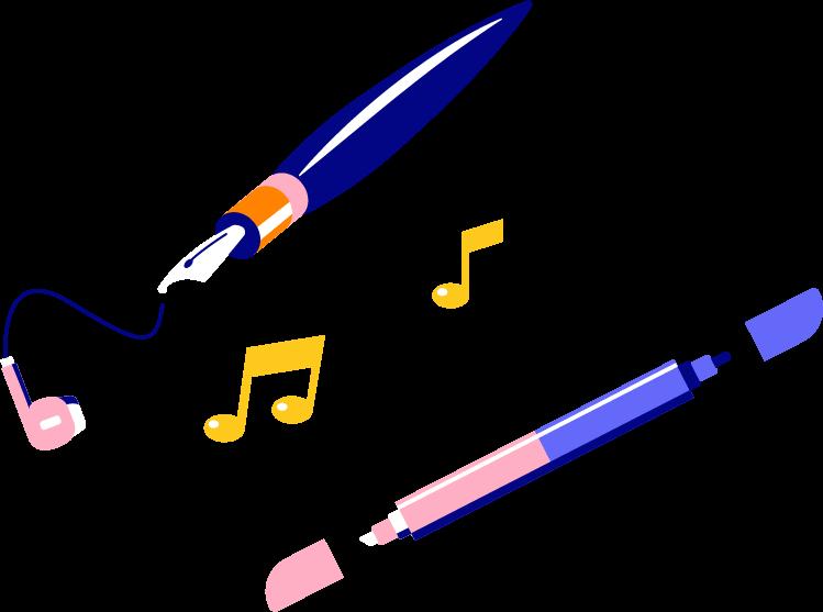 formatio Privatschule – Illustration marker-music-secondary