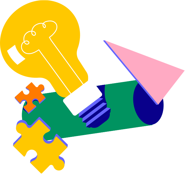 formatio Privatschule – Illustration puzzle-light-bulb